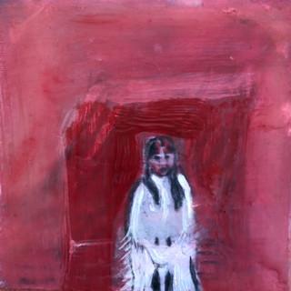 Girl and Red Door