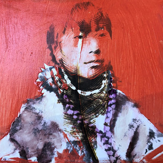 Inuit Woman in Red