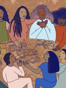 women of color drawing for feed representation
