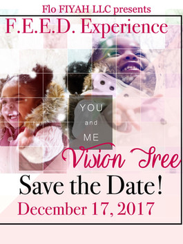 old flyer for feed workshop called vision tree