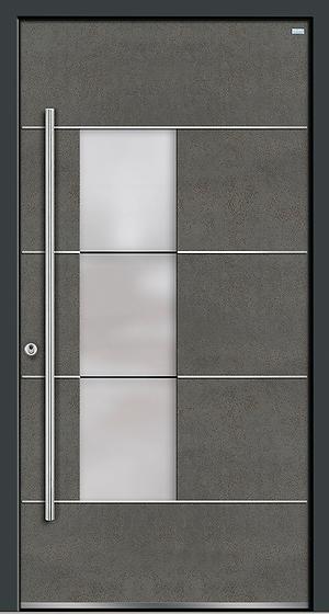Weßler Haustür Kontur-Holz-Alu-Keramik HAL453 Art Steel