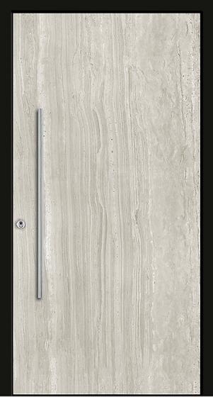 Weßler Haustür Kontur-Holz-Alu-Keramik HAL450 Art Carrara Platte