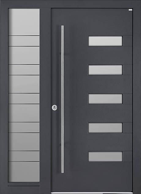 Weßler HolzAlu Haustür mit Seitenteil SAL100 HAL429 außen Alu innen Holz