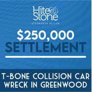 T-Bone Collision Car Wreck Settlement In Greenwood