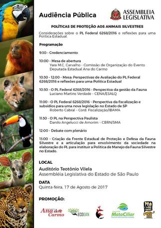AUDIENCIA PÚBLICA: POLÍTICA DE PROTECCIÓN DE VIDA SILVESTRE, SÃO PAULO, SP