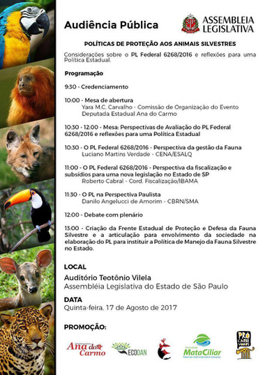 PUBLIC HEARING: PROTECTION POLICY FOR WILDLIFE, SÃO PAULO, SP