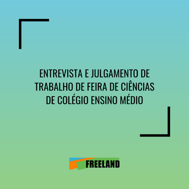 ENTREVISTA Y JUICIO DE TRABAJO EM FERIA DE CIENCIAS - COLEGIO GIORDANO BRUNO, SÃO PAULO, SP