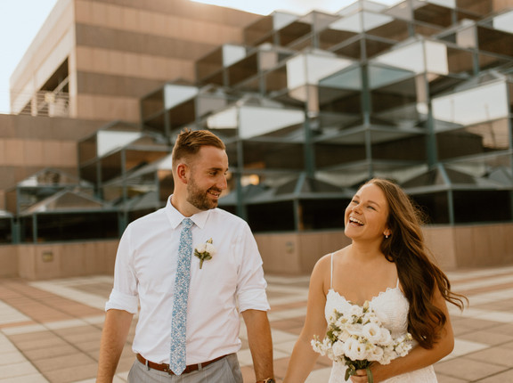 Jordan+Alex Burns | Downtown Des Moines | Summer | Micro Wedding