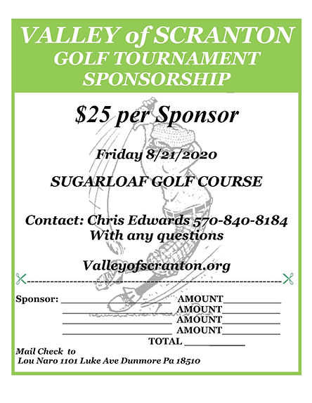 2020 Valley of Scranton Golf Tournament