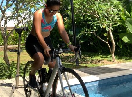Bike run swim @ home: a demo
