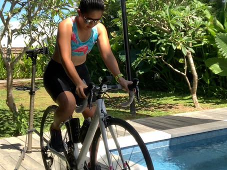 Bike run swim @ home: a demo