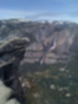 Yosemite Falls seen from Glacier Point. Take a private SUV tour from San Francisco with www.LandsEndTourCompany.com/Yosemite