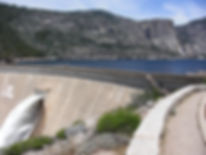 O'Shaughnessy Dam at Hetch Hetchy. Book a tour from San Francosco to Yosemite at www.LandsEndTourCompany.com/Yosemite