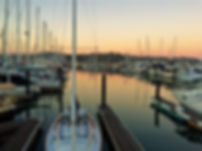 Sausalito's yacht harbor during sunset. Book an AM or PM private tour from San Francisco at www.LandsEndTourCompany.com