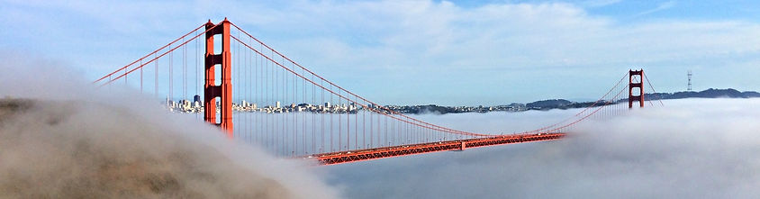 Low Fog Under Golden Gate from Hawk Hill by Land's End Tour Company - The Best Custom Private SUV Tours From San Francisco
