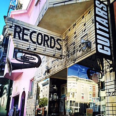 Record shop in San Francisco's North Beach neighborhood. Book a custom San Francisco tour at www.LandsEndTourCompany.com