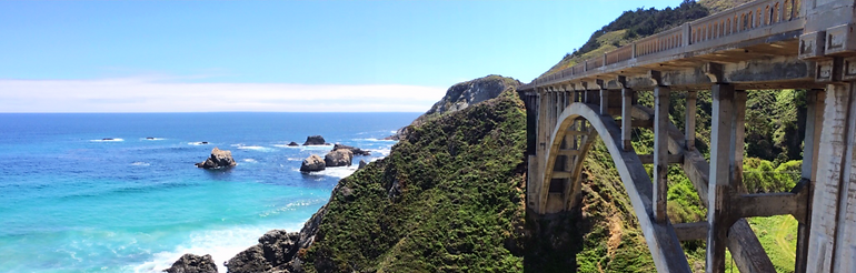 The Bridges of Big Sur Rockaway & Bixby Bridge Collage PCH HWY 1 Pacific Coast Highway 1 by Land's End Tour Company - The Best Custom Private SUV Tours From San Francisco