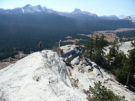 On top of Lembert Dome in Yosemite's Tuolumne Meadows. Book a private Yosemite tour at www.LandsEndTourCompany.com