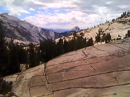 Olmsted Point in Yosemite off Highway 120
