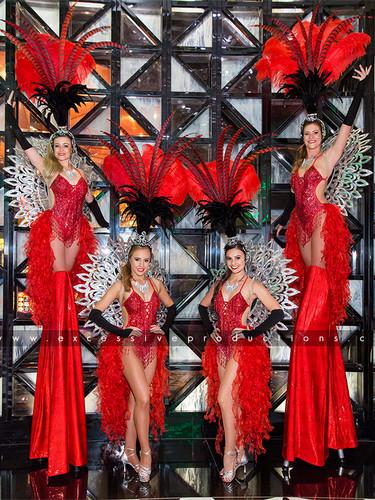 Blk & Red Showgirls