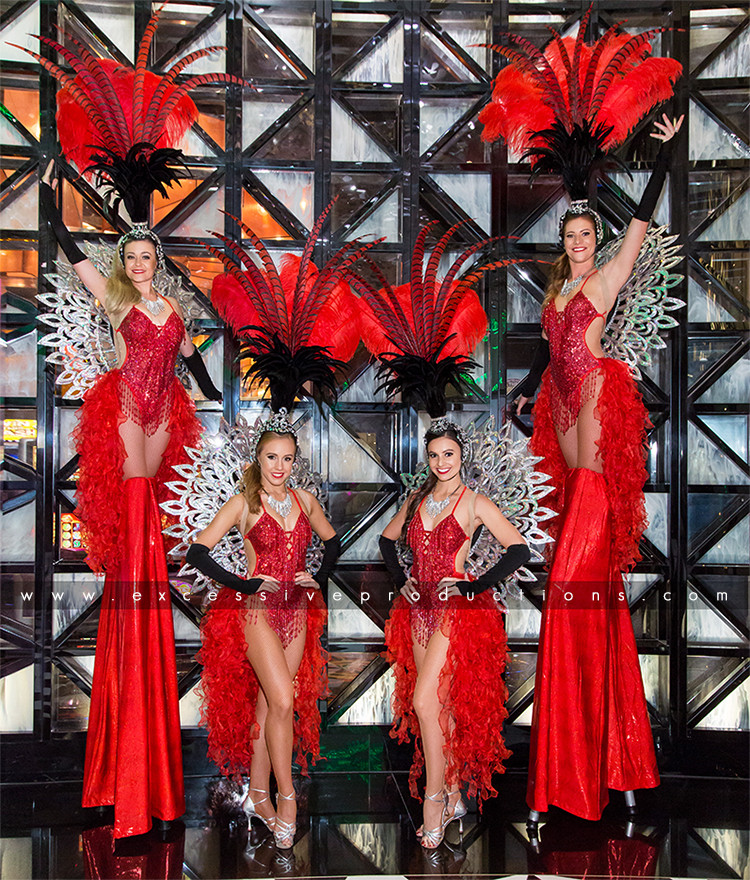 Blk & Red Showgirls
