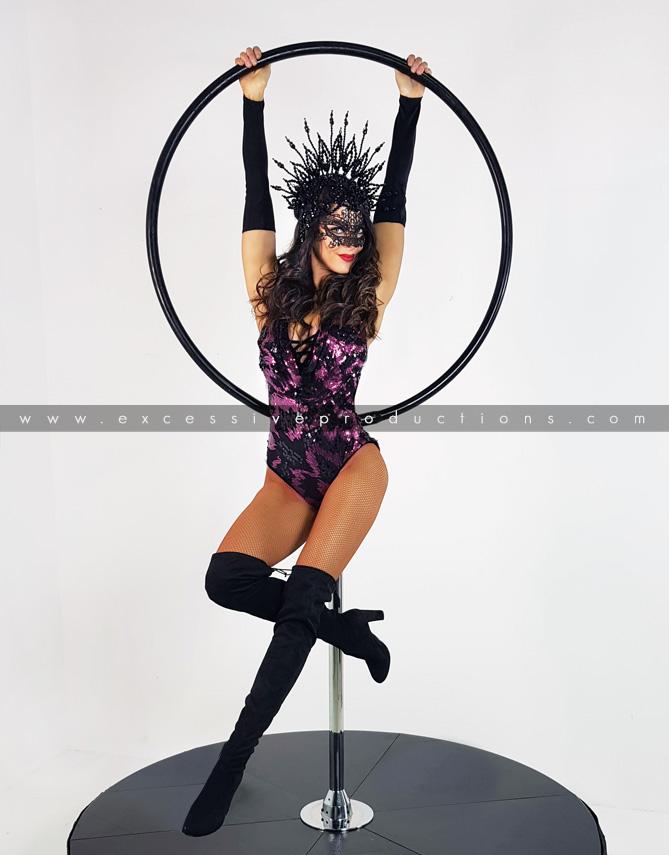 Purple Lollipop Hoop Masquerade