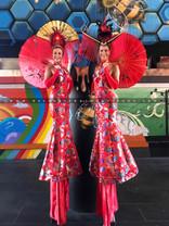 China Dolls with Umbrellas