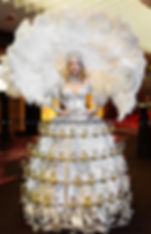 White Queen Champagne Dress