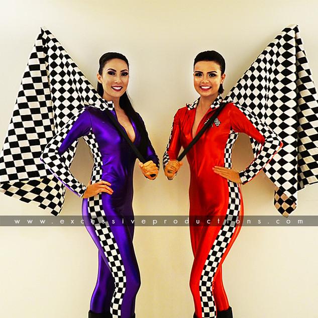 Purple & Red Grid Girls