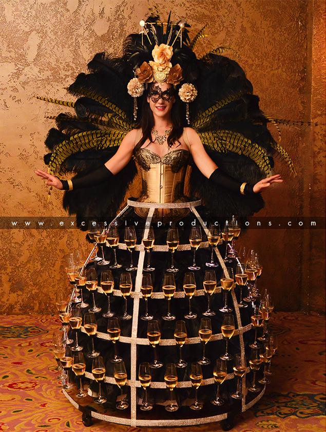 Champagne Dress Masquerade