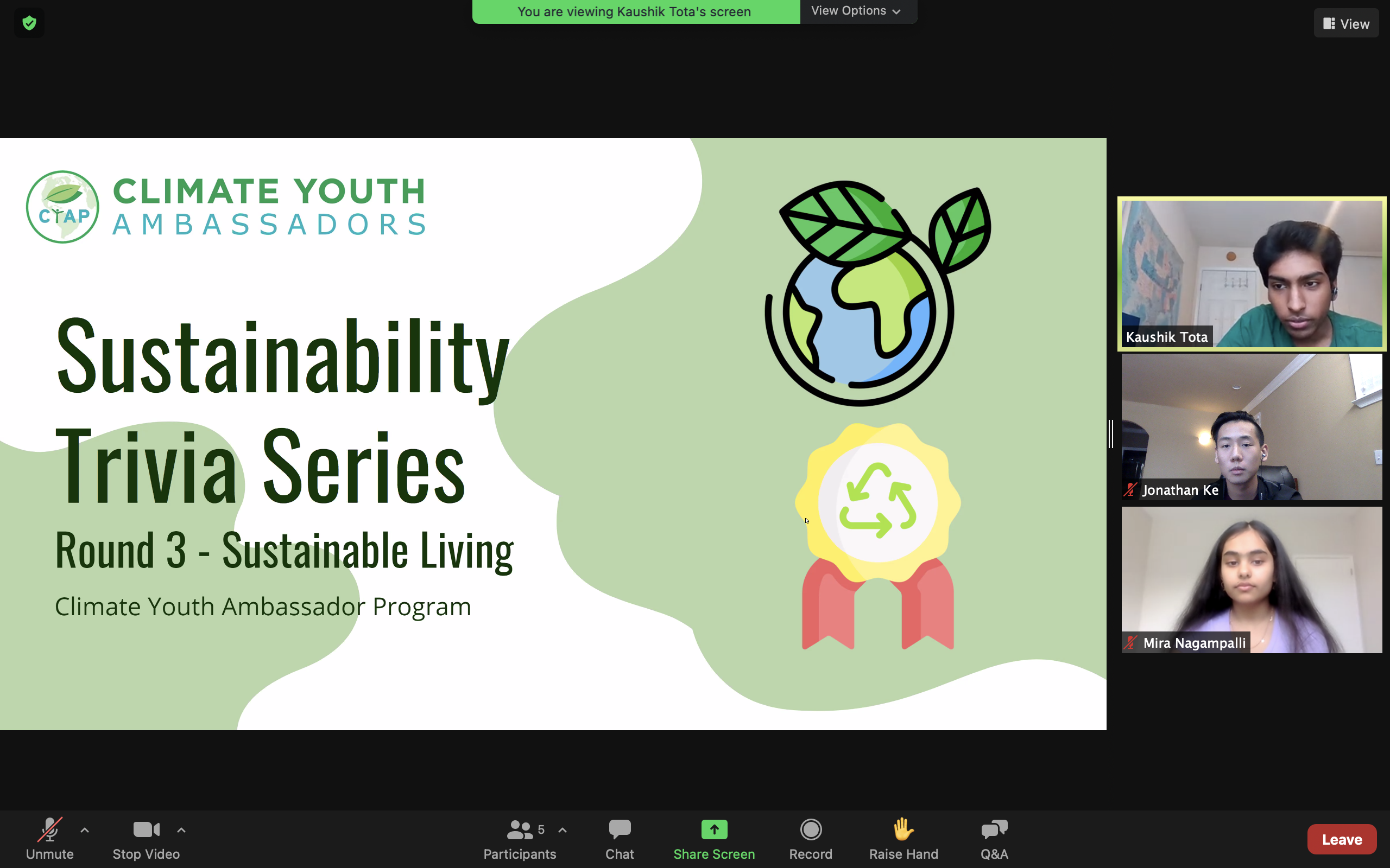Sustainability Trivia Series Round 3