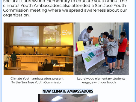 Climate Youth Ambassadors Fall 2019 Newsletter