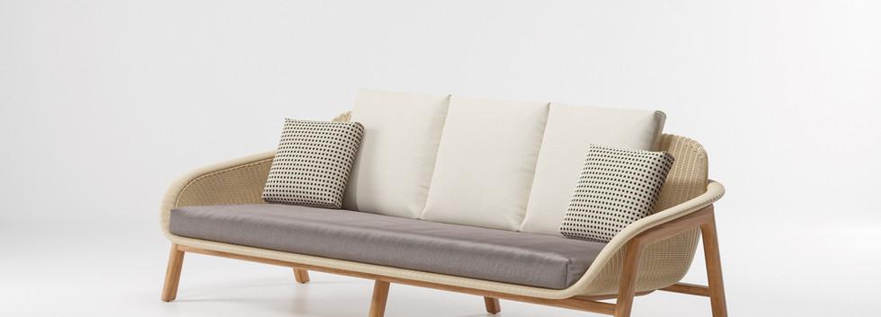 Kettal Vimini 3 seater sofa
