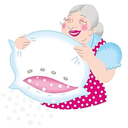 Frau Holle schüttelt die Decke und läßt es schneien