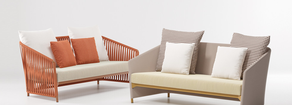 Kettal Bitta lounge 2-seater sofa