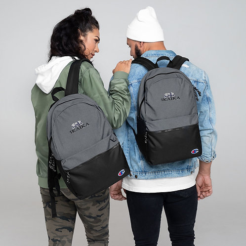 Embroidered Skull Combo Backpack