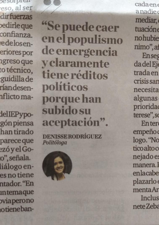 Denisse Rodriguez Olivari El Comercio