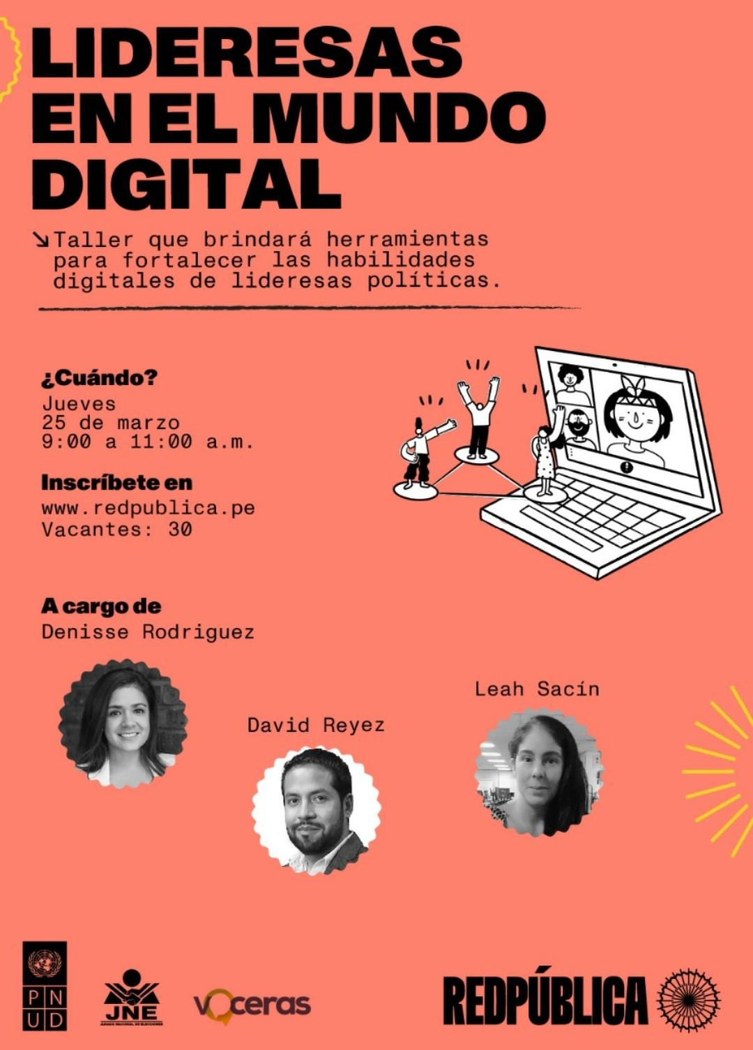 Taller para lideresas digitales - Voceras