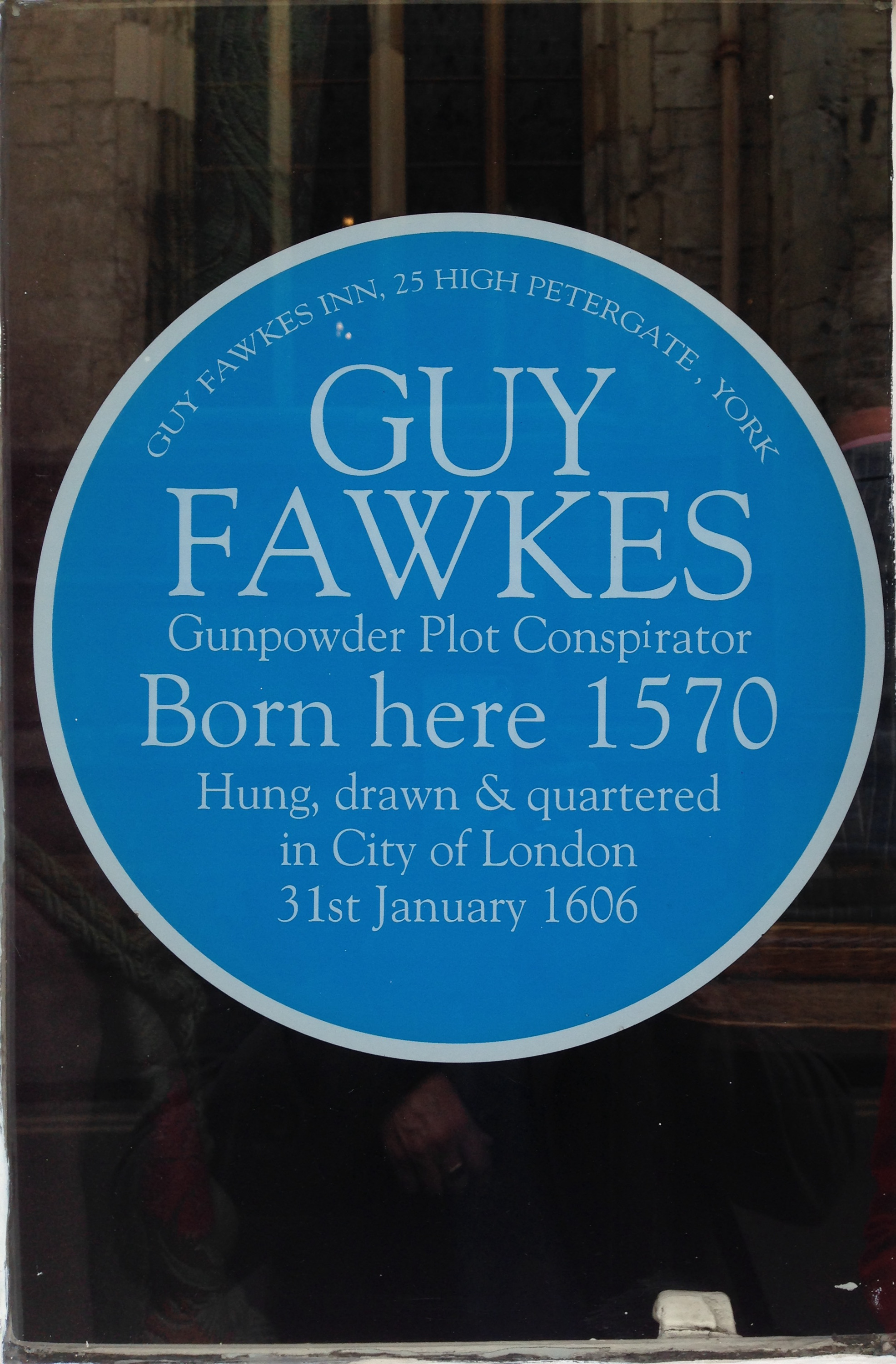 Guy Fawkes Plaque