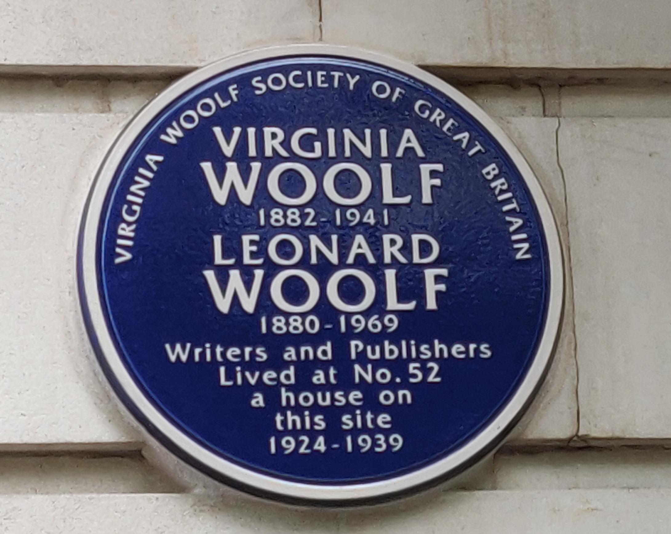 Virginia Woolf Blue Plaque