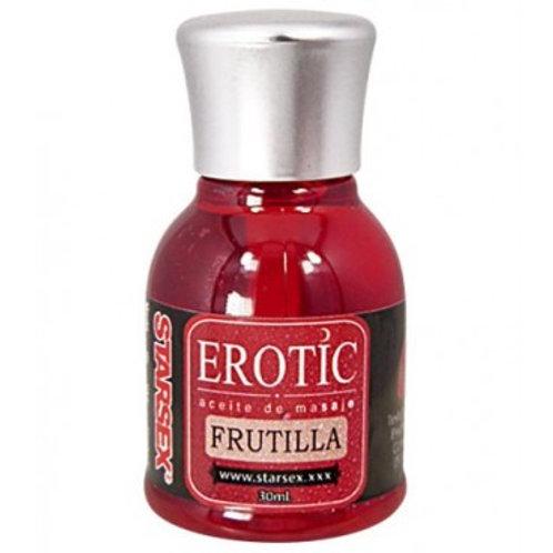 Aceite Masaje Efecto Calor Frutilla Starsex 30 ml