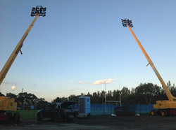 Construction area lighting