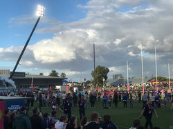 Whitten Oval temporary sports lighting A