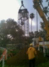Floodlighting Australia floodlighting tower footing installation