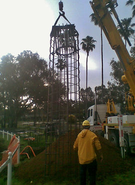 Floodlighting Australia floodlighting tower footing installation