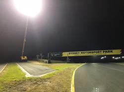 Eastern Creek V8 Supercars lighting trial