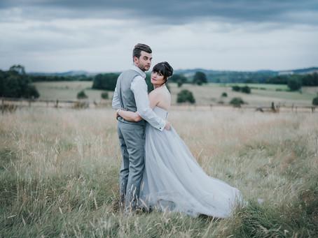 Bredenbury Court Barns Wedding Photography - Poppy Carter Portraits - Frances & Grant - Grey Wed
