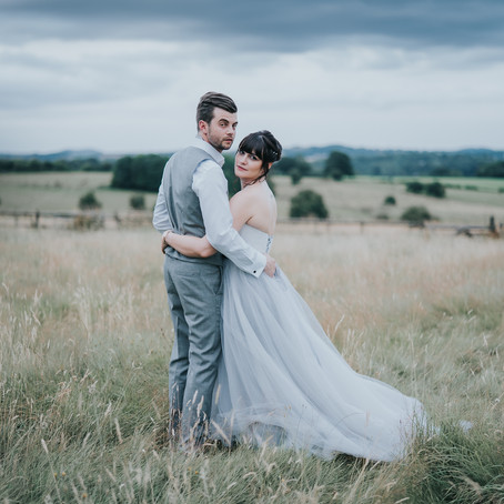 Bredenbury Court Barns Wedding Photography - Poppy Carter Portraits - Frances & Grant - Grey Wed