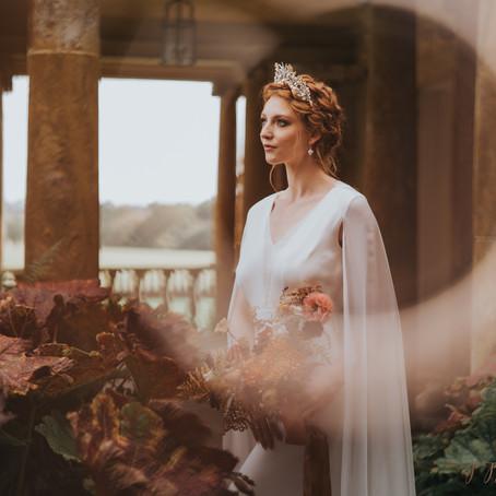 Stoke Park Pavillions Styled Bridal Editorial - Celestial Bridal Inspiration - Poppy Carter Portrait