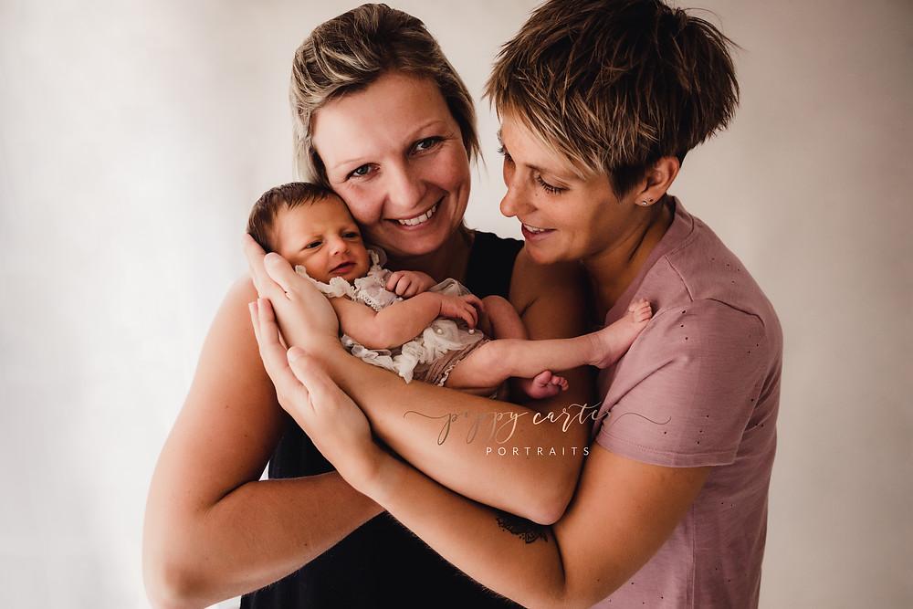 Same sex parents newborn photography session buckinghamshire ivf baby rainbow baby aylesbury newborn photographer